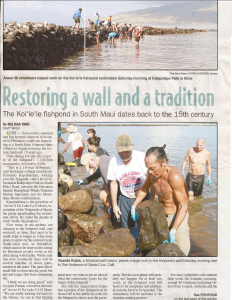 Maui News Article page 1