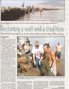 Maui News Article page 1